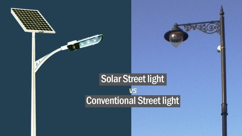 Solar-vs-Normal-Street-Light