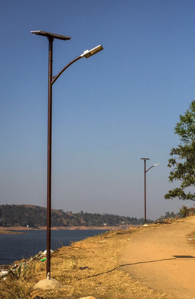 Zonstreet 30W install in Shillong at Riverside