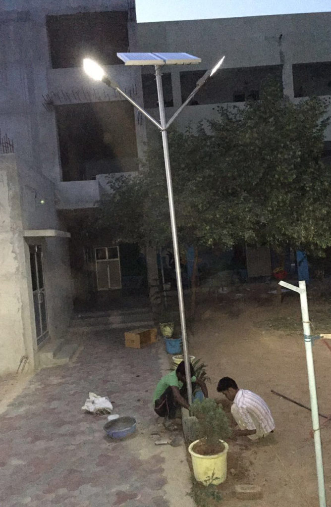 Zonstreet 9W installation in Society, Lucknow
