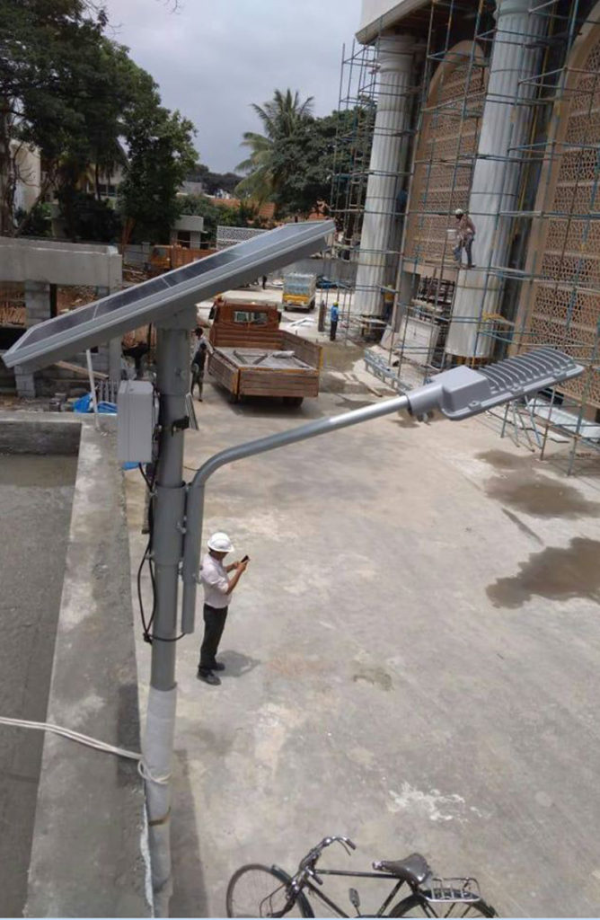 Zonstreet CCTV light installed in Banglaore at construction site