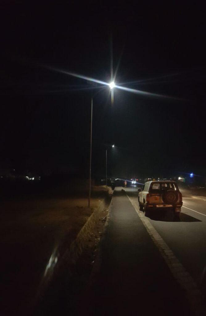 Zonstreet installation at Tanzania highway, Africa