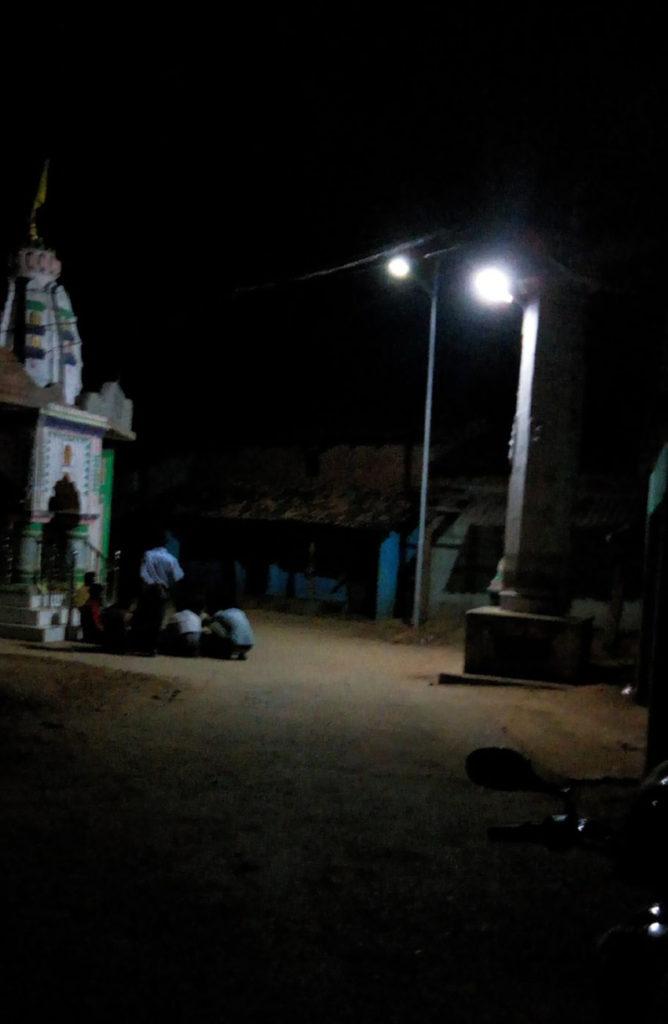 Zonstreet installation near Temple in Village, Orissa