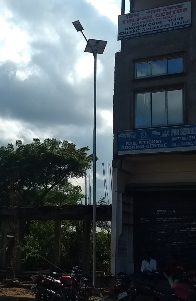 Zonstreet street light installation in Assam