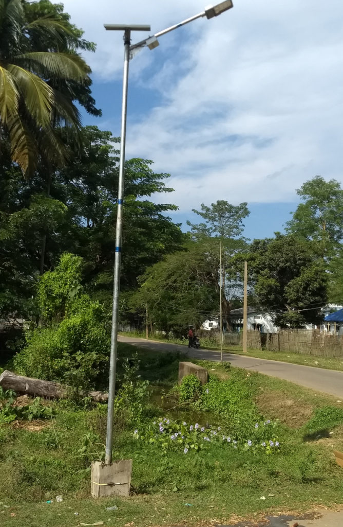 Zonstreet street light installation in Guwahati