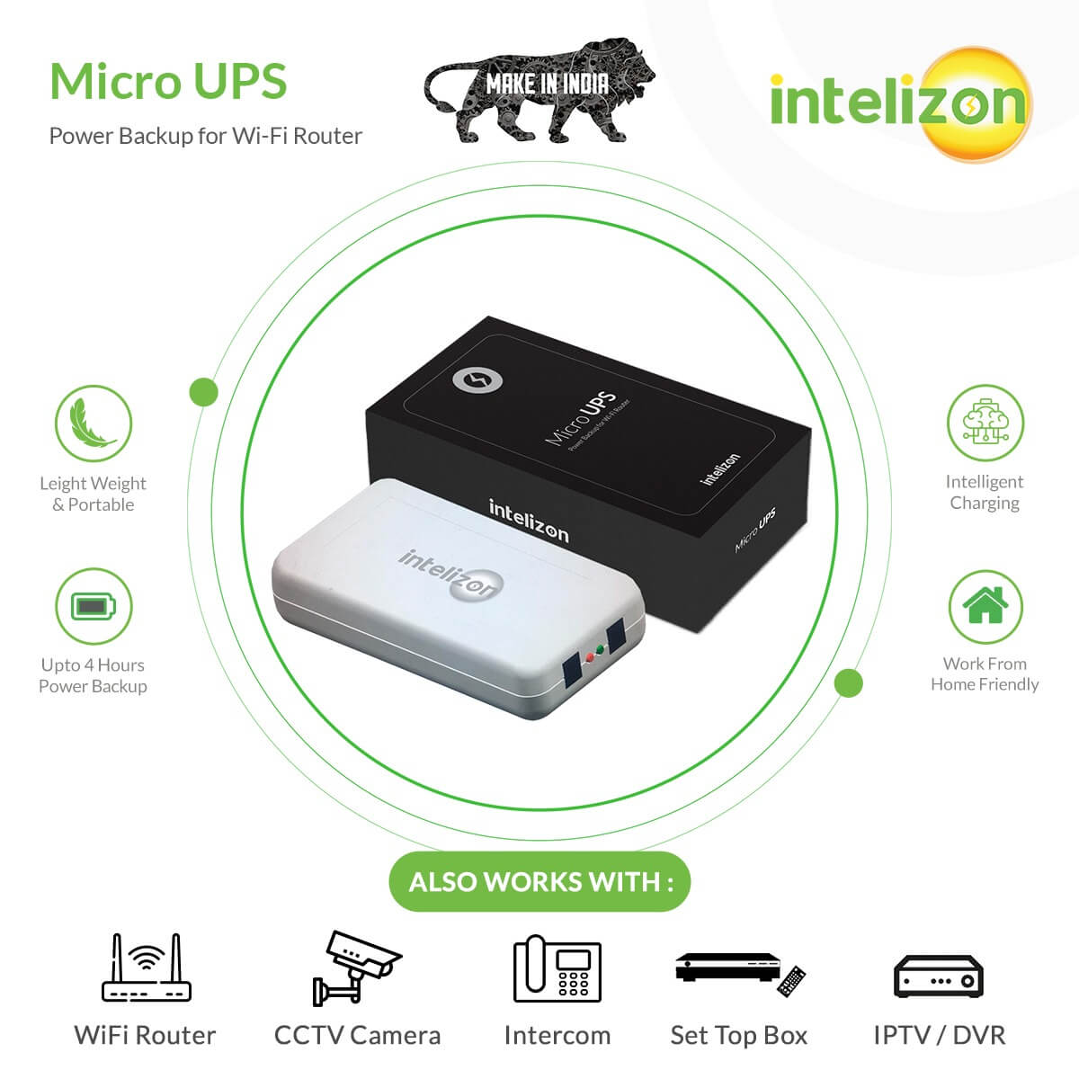Made in India MicroUPS for Wifi Routers