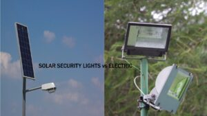 Solar Security Lights vs Electric